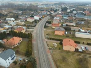 Zdjęcie przedstawia fragment  wybudowanej drogi