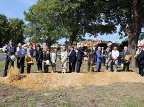 Budowa ronda w Krzeszowie