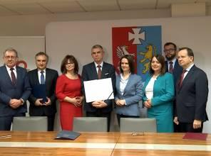Podpisanie umowy na opracowanie projektu mostu przez rzekę San w Jarosławiu