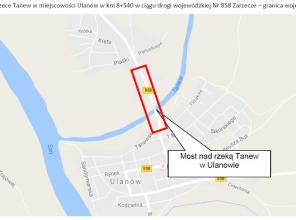 Mapa przedstawiające lokalizację inwestycji