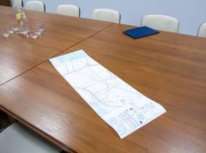 Zdjęcie mapy przedstawiającej lokalizację inwestycji