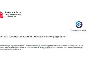Informacja o dofinansowaniu  z Funduszu Prewencyjnego PZU SA