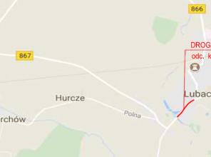 Mapa z zaznaczoną lokalizacją Inwestycji