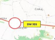 Przedłużenie zamknięcia DW 993 na odcinku Pielgrzymka - Nowy Żmigród